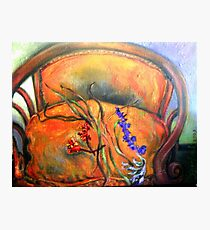 French Chair, Bouquet  Photographic Print
