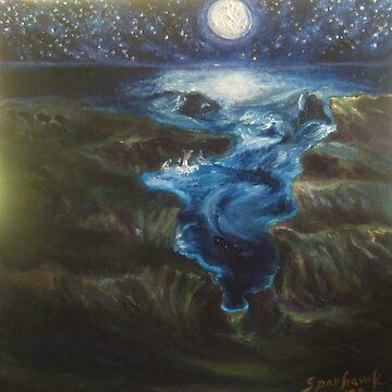 Sobrannes Point, Moonlight by Hawkski
