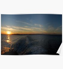 Ferry Wake, Puget Sound Poster