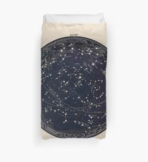 Antike Karte des Nachthimmels, Astronomie des 19. Jahrhunderts Bettbezug