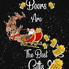Funny t-shirt Beers are the best Christmas gifts by santa's on reindeers by Mariokao