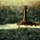 Longships Lighthouse, Carn Bras. England by hanspeder