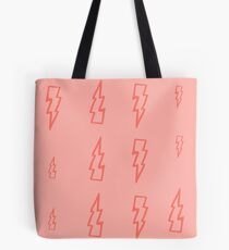 pink lightning Tote Bag