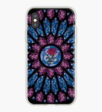 Stained Glass Rose iPhone Case