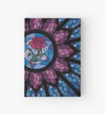 Stained Glass Rose Hardcover Journal