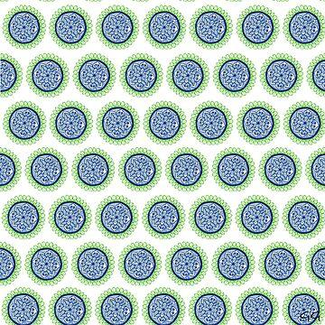 Blue Green GG Mandala by Gambargombor
