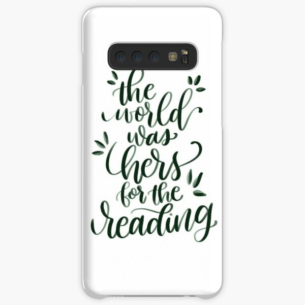 The World was Hers for the Reading Samsung Galaxy Snap Case