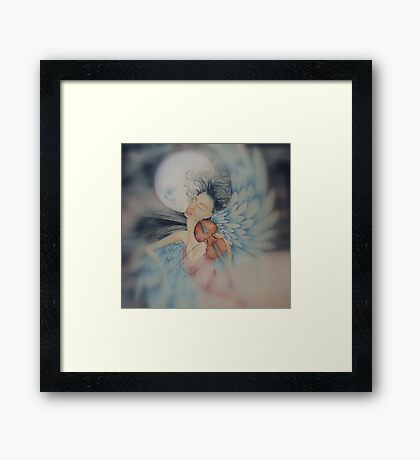 blue angel of peace © 2009 patricia vannucci  Framed Print