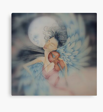 blue angel of peace © 2009 patricia vannucci  Canvas Print