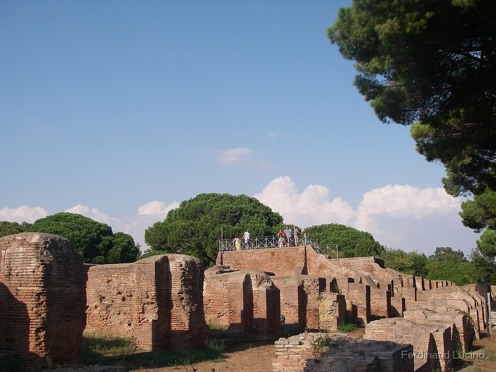 Theatrical aspect of Ostia Antica -Rome by Ferdinand Lucino