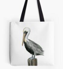 Watercolor Pelican Tote Bag