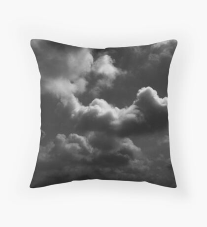 Dark Clouds Are Approaching. Throw Pillow