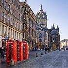 Along the Royal Mile, Edinburgh by Christine Smith