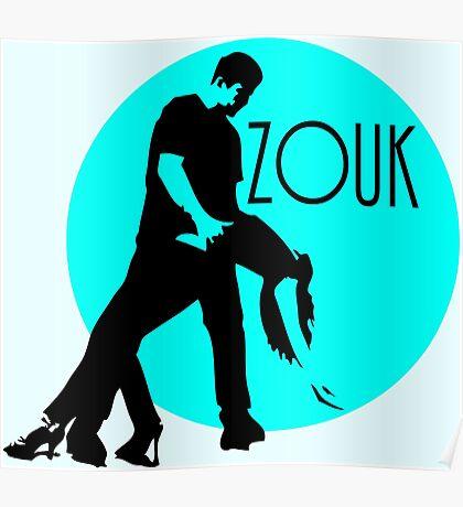 zouk dancers - blue moon Poster