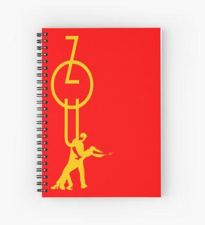 lets dance zouk - yellow Spiral Notebook