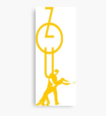 lets dance zouk - yellow Canvas Print