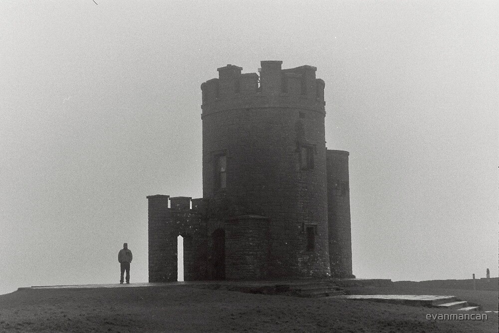Castle and Man by evanmancan