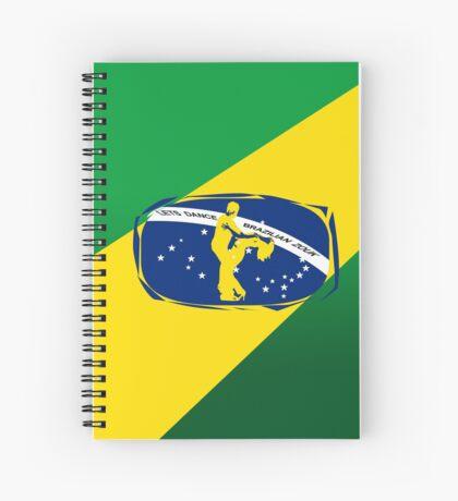 lets dance brazilian zouk flag color design Spiral Notebook