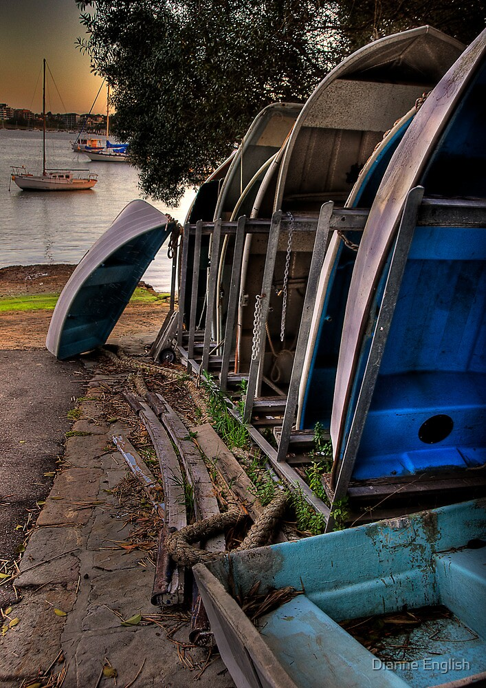 Boats at Rest by Dianne English