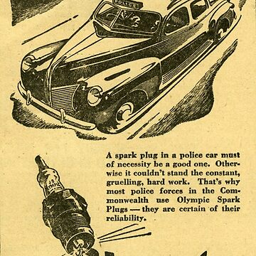 1944 Spark Plugs. Police Approved!  by taspaul