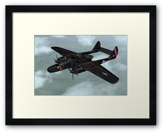 Northrop P-61 Black Widow by Walter Colvin
