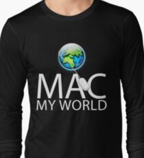 Mac My World White Text T-Shirt