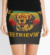 Dont Stop Retrieving Funny Golden Retriever Owner Mini Skirt
