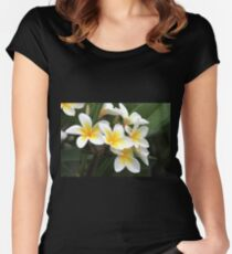frangipani flower Women's Fitted Scoop T-Shirt