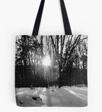 Snow B&W Tote Bag