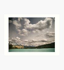 Fairmont chateau hotel in lake louise, Banff Art Print