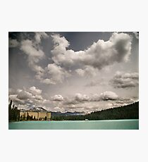 Fairmont chateau hotel in lake louise, Banff Photographic Print