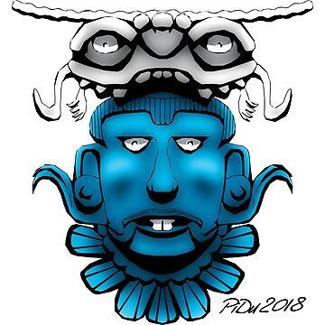 Mayan Mask by cartoonblog