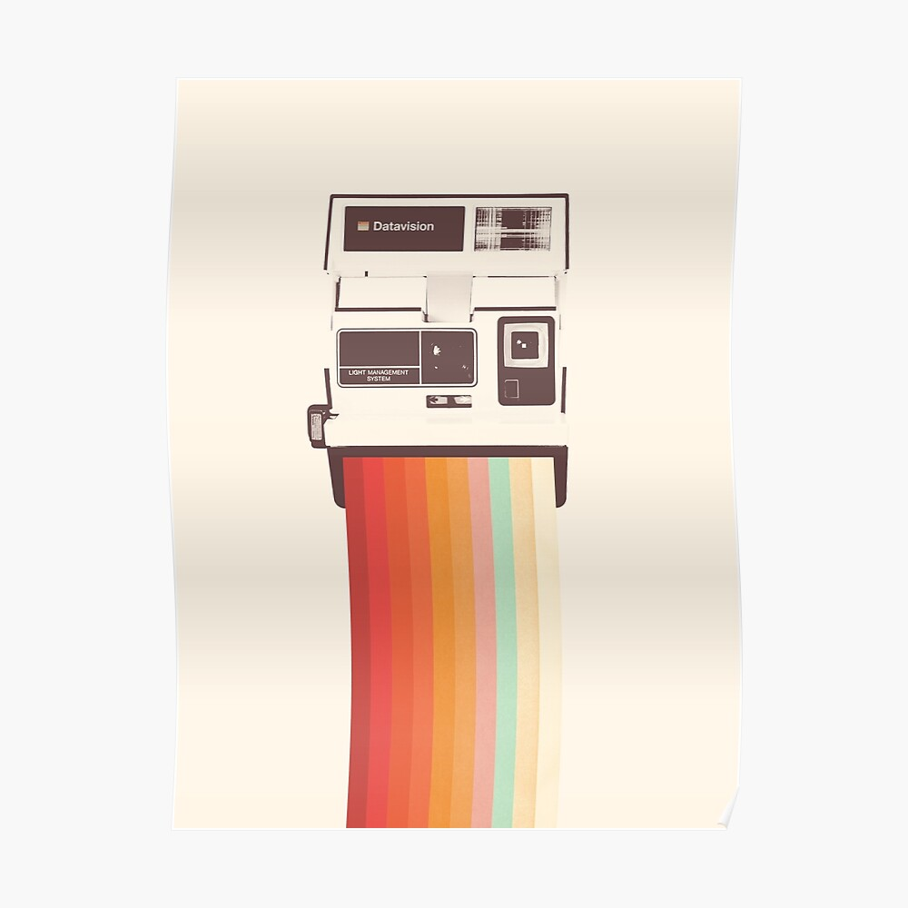 Sofortbildkamera Rainbow Poster