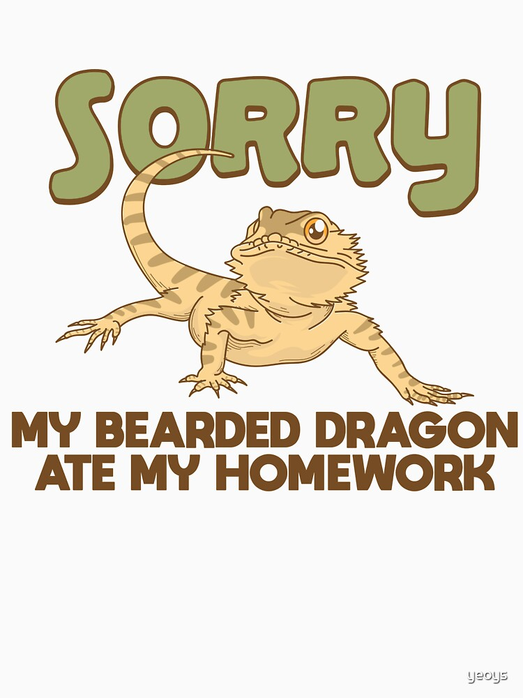 My Bearded Dragon Ate My Homework - Funny Reptile Gift von yeoys