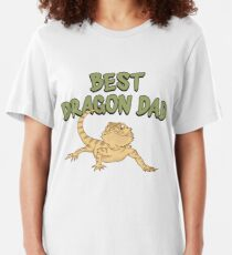 Best Dragon Dad - Funny Reptile Gift Slim Fit T-Shirt