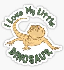 I Love My Little Dinosaur - Funny Reptile Gift Sticker