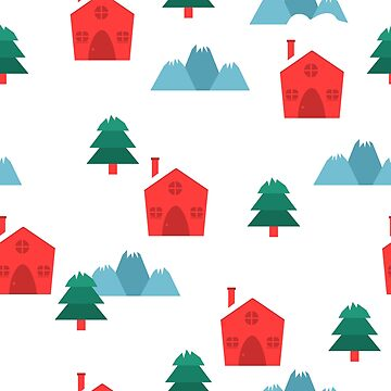Winter and Christmas themed village pattern by mrhighsky