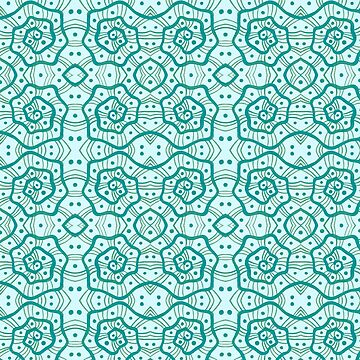 Helices, Mint and Teal by clipsocallipso