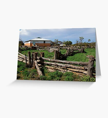 Historic Pastrol Shearing Shed, Canopus Greeting Card