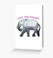 Save the Elephants! Greeting Card