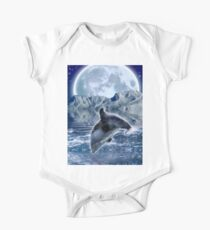 DOLPHIN & MOON Fantasy Art Poster One Piece - Short Sleeve