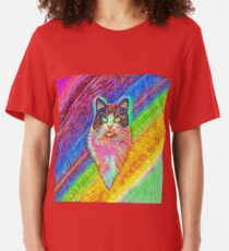 Abstract cat Slim Fit T-Shirt