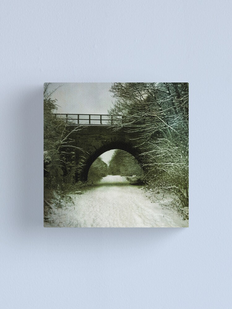 Alternate view of Winter Bridge Canvas Print