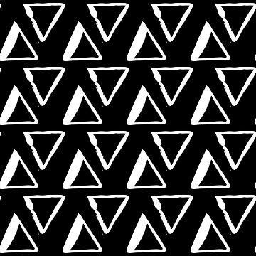 White Triangles on Black by Modernicity