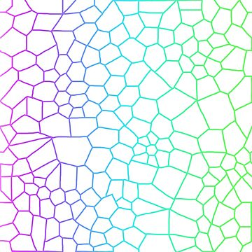 Voronoi Diagram--Cool Toned by poppetini