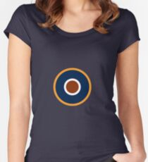 Spitfire Marking - Orange. Women's Fitted Scoop T-Shirt