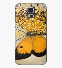 Explosión geométrica mariposa amarilla Funda/vinilo para Samsung Galaxy
