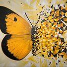 «Explosión geométrica mariposa amarilla» de artetbe