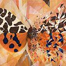 «Mariposa naranja y explosión geométrica azul» de artetbe