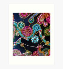 Abstract Dot Painting CHARDED WITH JOY by Dutch Artist Tessa Smits Art Print